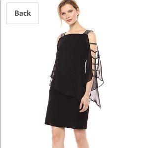 MSK Women's Black size Medium Overlay Dress NWT